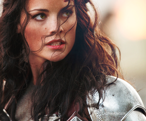 thor, lady sif, and Jaimie Alexander image
