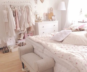 bedroom, cute, and pink image
