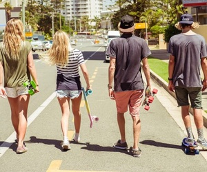 skateboard and friends image