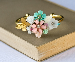 beautiful, bracelet, and butterflies image