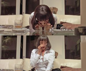 cocaine, mia wallace, and pulp fiction image