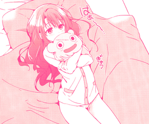 anime, bed, and pajamas image