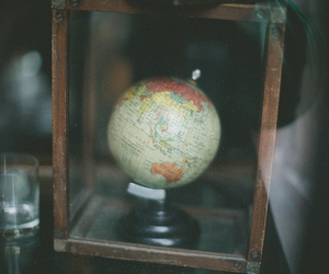 globe, hipster, and vintage image