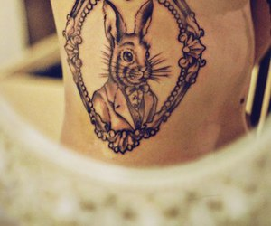 tattoo, rabbit, and bunny image