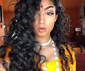 asian, beautiful, and bindi image