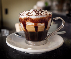 drink, chocolate, and cream image