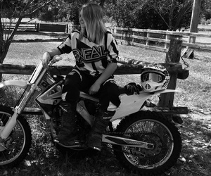 girl, Honda, and motorbike image