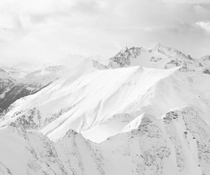 mountains, white, and snow image