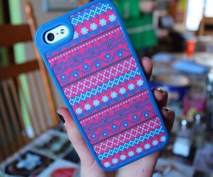 iphone, case, and blue image