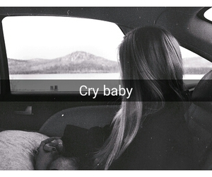 alternative, black and white, and cry image