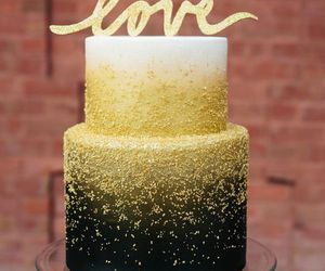 cake, black, and gold image