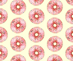 background, donut, and patterns image