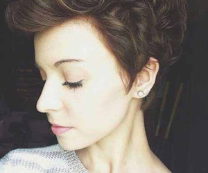 curly, hair, and pixie image