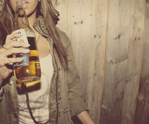 girl, beer, and alcohol image