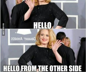 Adele, funny, and hello image