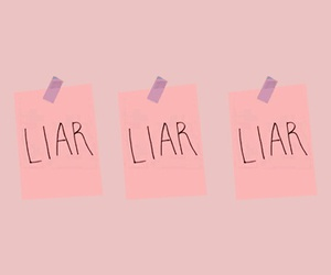 letters, liar, and OMG image