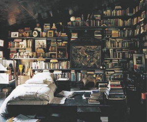 bed, bookworm, and book image