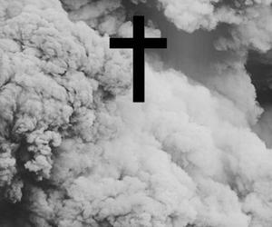 cross, clouds, and smoke image