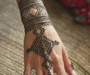 beautiful, hand, and henna image