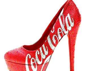 coca cola, shoes, and red image