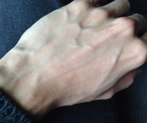 hand, veins, and pale image