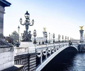 bridge, travel, and paris image