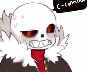 sans and underfell image