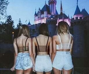 girl, friends, and disney image