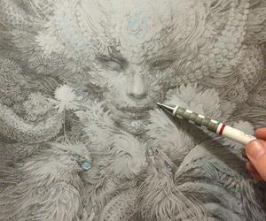 art, drawing, and fantasy image