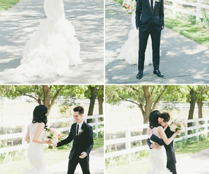 brendon urie, sarah urie, and wedding image