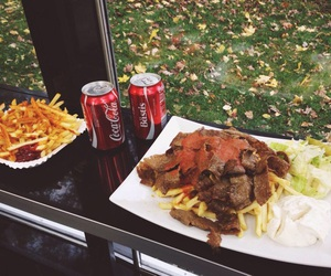 coca-cola, food, and fries image