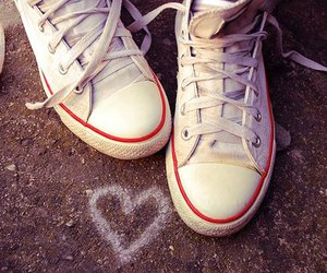 heart, shoes, and love image