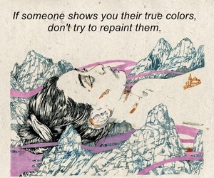colors, quotes, and girl image