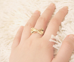ring, bow, and gold image