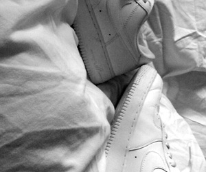 fashion, black n' white, and airforce1 image