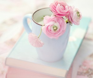 cup, flower, and pastel colors image