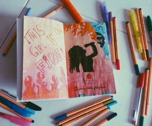 amor, color, and fire image