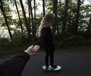 love, couple, and skate image