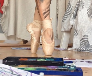 art, ballet, and ballet dancer image