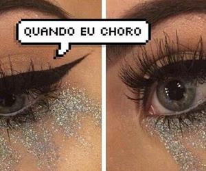 maquiagem, choro, and balãozinho image