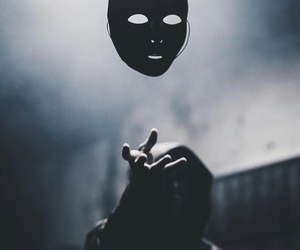 mask and dark image