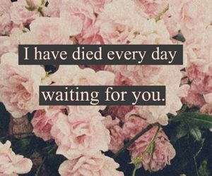 cry, waiting for you, and you image