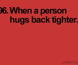 hug, quote, and little things image