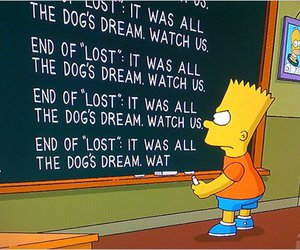 lost and the simpsons image