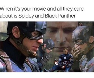black panther, funny, and Marvel image