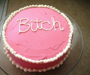 bitch, cake, and pink image