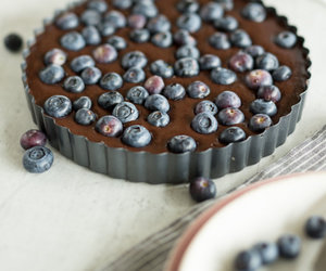 blueberry, pastry, and chocolate image