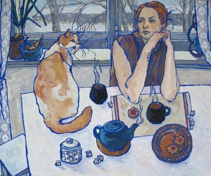 art and cat image