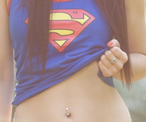 girl, piercing, and swag image