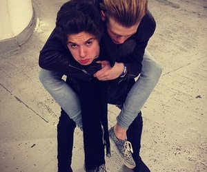 best friends, piggy back ride, and the vamps image